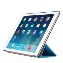 Slim Smart Case for iPad Mini 1 2 3 4 PU Leather Smart Cover Tri-Fold Stand for Apple iPad mini 4 Case Transparent PC Hard Back