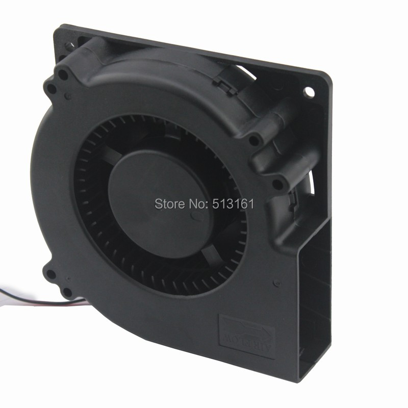 2Pcs Gdstime 120mm x 32mm 48V Ball Bearing 12032 Radial Cooling Brushless DC Centrifugal Fan Blower gdstime 1 pcs 12cm 120x120x32mm blower fan 48v dual ball bearing 0 35a dc brushless cooling fan 120mm x 32mm big cooler 2 pin