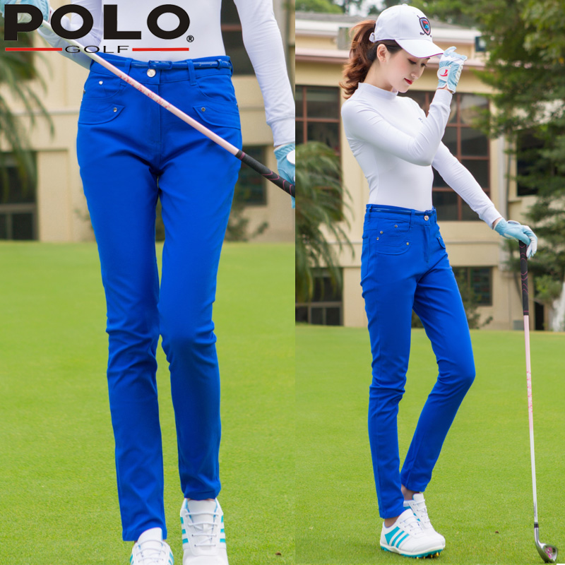 Send Belt ! High Quality Polo Lady Cotton Trousers Slim Trousers Women Golf/Tennis Sportswear Casual Long Pants Clothes Brand цена