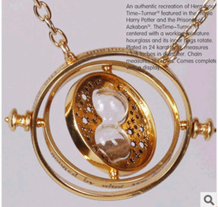 Vintage Style Time Turner Necklace The Golden Snitch Jewelrys