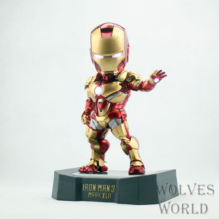 Egg Attack Iron Man Mark 42 Movie Action Figure Collectible Toy Model Free Shipping free shipping marvel egg attack iron man 2 mark 4 action figure collection model toy 8 20cm im018
