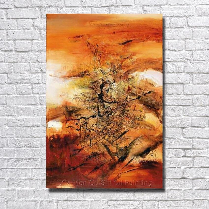 ᐊPintado a mano pintura al óleo sobre lienzo paisaje abstracto ...