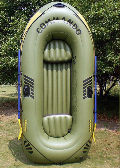 3 Persons Inflatable Boat Outdoor Fishing Boat Drift Boat Kayaking Inflatable Pool Float 0.45mm PVC Thickened Water-skiing Boat