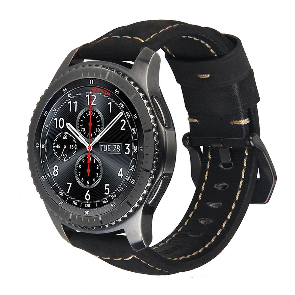 22mm Genuine Leather Watchstrap For Samsung Gear S3 Frontier Classic Strap For Huawei Gt For Amazfit Stratos 2 2S Bracelet Bands