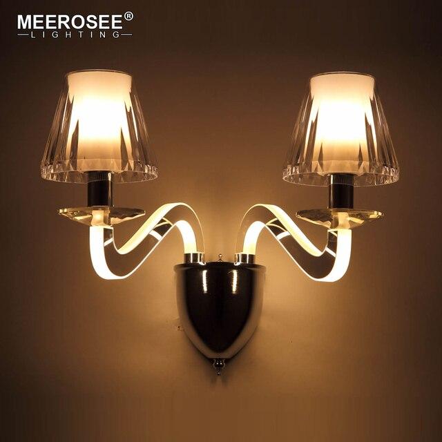 Creativo Applique Da Parete Comodino LED Lampada Da Parete In Vetro ...