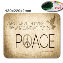 English words 180mmx220mmx2mm Custom 3D print Gaming Mouse Mat High Quality Durable Fashion Computer and Laptop Mouse Pad