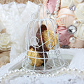 European romantic Bridal Wedding and party creative personality iron white candy box iron bell birdcage gift box candy boxes