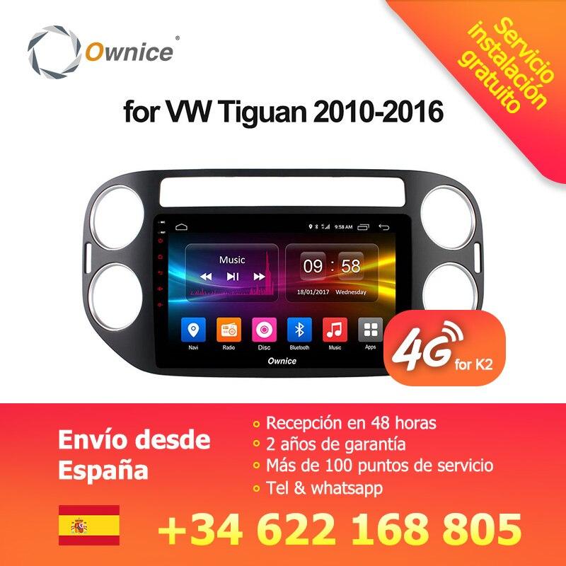 Ownice C500 + G10 Octa Núcleo Android 8.1 GPS Rádio Do Carro dvd CD GPS Para VW Tiguan 2010 2011 2012-2017 de Áudio Estéreo