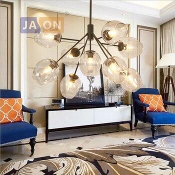 Led E27 Nordic Iron Glass Golden Black LED Lamp LED Light.Pendant Lights.Pendant Lamp.Pendant Light For Foyer Dinning Room
