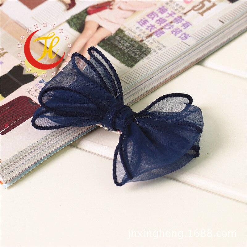 Тюль шифон заколка-бабочка для детей банты для волос Детские клипсы украшения для девочек заколки для волос аксессуары головной убор - Цвет: color