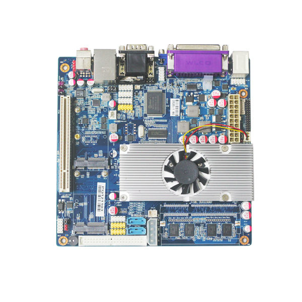 Mini Itx industrial singel Channel  motherboard  Atom D525 With SIM Slot / 6 COM / LVDS m945m2 945gm 479 motherboard 4com serial board cm1 2 g mini itx industrial motherboard 100