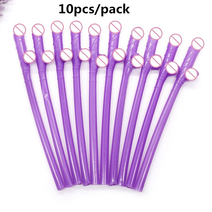 Bachelorette Party Cocktail Straw 40 Pack Assort Colors Adult Funny Straw Girls