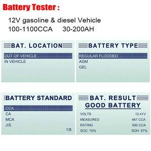 Image 3 - FOXWELL probador de batería de coche BT100 Pro 12V, para GEL AGM inundado con ácido de plomo, analizador Digital de batería de 12V, herramienta de diagnóstico 100 1100CCA