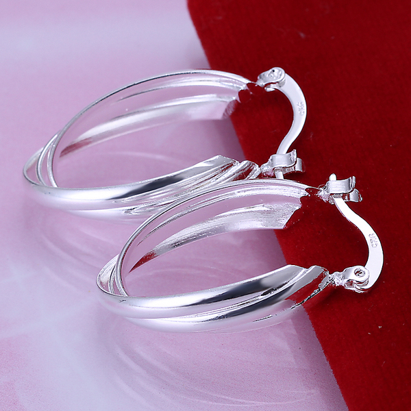 925 sterling silver jewelry silver hoop earrings