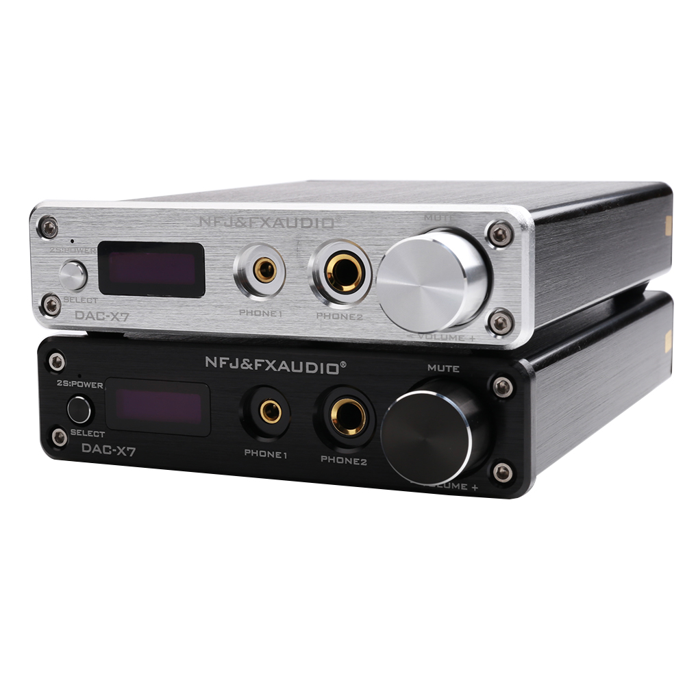 DAC-X7 XMOS AK4490EQ USB DAC Decoder HiFi Audio Headphone Amplifier DSD256 OPA2604 TPA6120 USB / optical / coaxial / AUX input цена