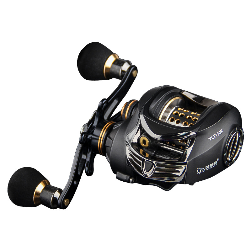YLT130 14BB 6.3:1 Full Meta 2 Spools Fishing Reel Max Drag 6kg Bait Cast Reel Magnetic Dual Brake Baitcasting Reel Left/Right trulinoya full metal body baitcasting reel 7 0 1 10bb carbon fiber double brake bait casting fishing reel max drag 7kg
