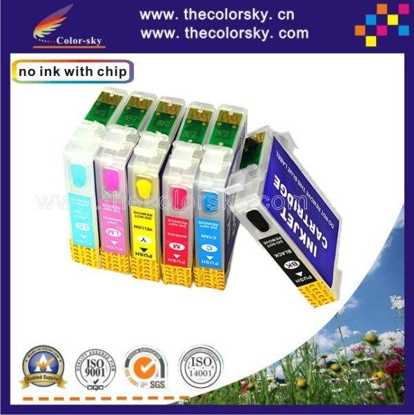 RCE811-816) многоразовый картридж с чернилами для принтера Epson T0811-T0816 81 стилус 1410 R270 R290 RX590 RX610 bk/c/m/y/lc/lm в лоте; dhl