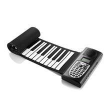 New Flexible Piano 61 Keys Electronic Piano Keyboard Silicon Roll Up Piano Sustain Function USB Port with Loud Speaker roll up piano sound spectrum sticker 49 key electronic organ 49k4 electronic keyboard piano silicon usb charging flexible