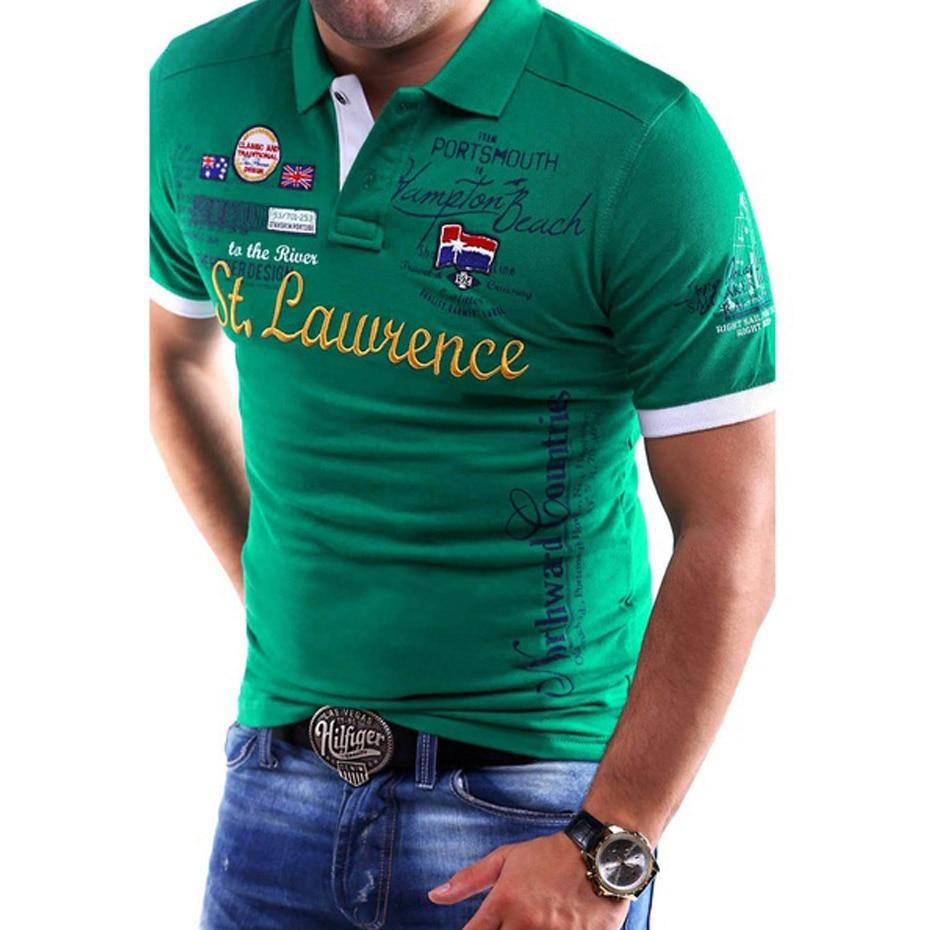 9e87357eaf1 ZOGAA рубашки поло с длинным рукавом Для мужчин XS-4XL Мужская Мода  Повседневная рубашка-