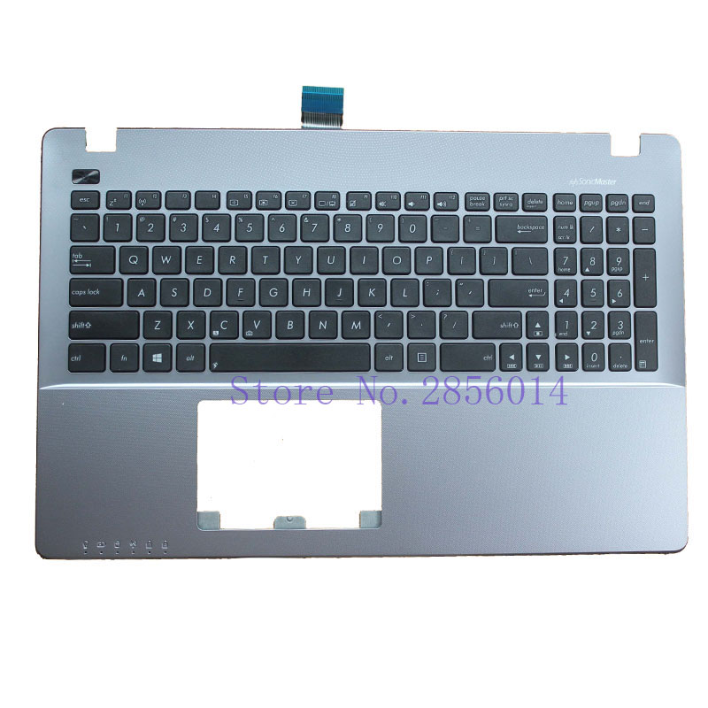 New US Laptop Keyboard for ASUS R510L R510EP R510LA R510LB R510LC R510LD R510V R510C keyboard with Palmrest Upper laptop keyboard for asus ux51 ux51vz 9z n8bbu h01 with us version