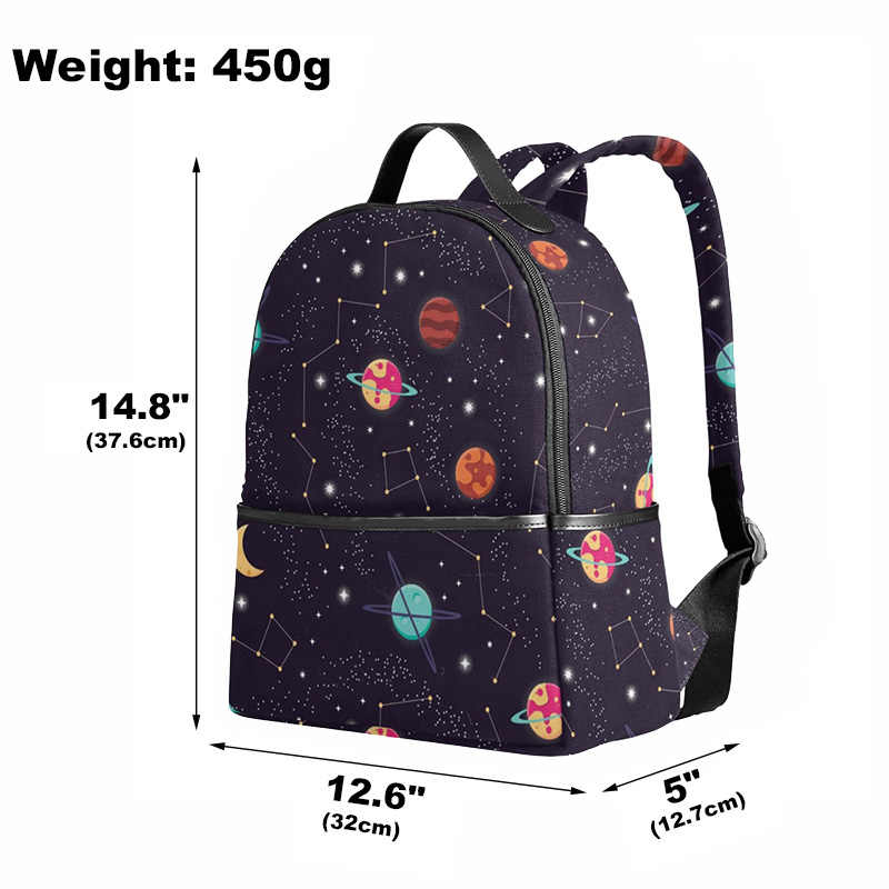 2f7d0bf7bef6 ALAZA Solar System Space Planet Polyester Backpack School Travel Bag High  Quality Fashion Travel Tote Backpack