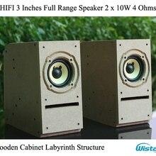 IWISTAO HIFI 3 дюйма полный спектр динамик деревянный шкаф лабиринт структура 2x10 Вт 4 Ом 85 дБ шероховатая поверхность для лампового усилителя