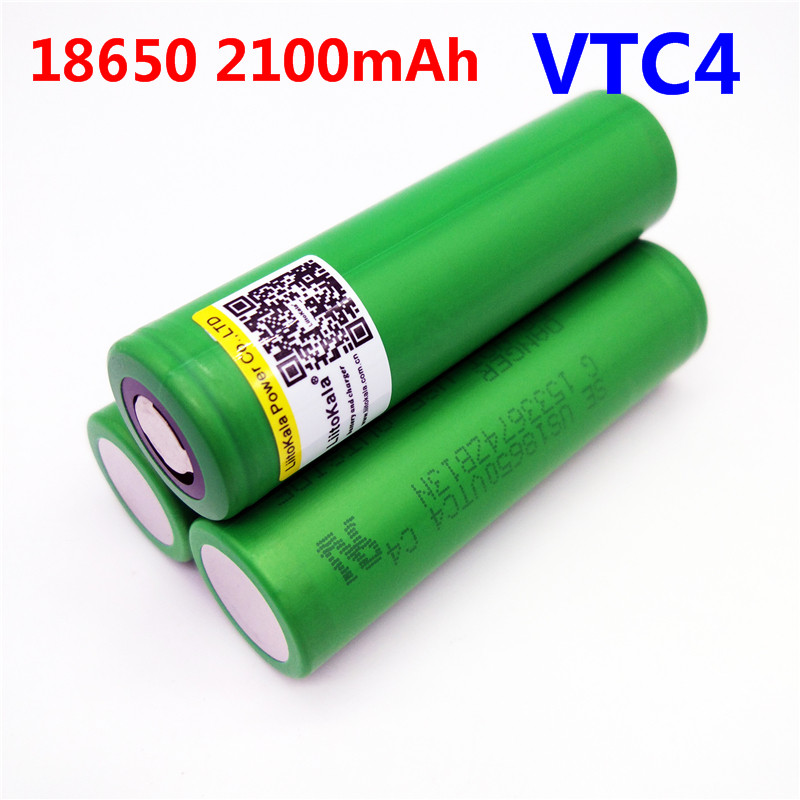 1pcs Liitokala New 100% Original 3.6V 18650 VTC4 2100mAh High drain 30A Rechargeable battery For Electronic cigarettes batteries