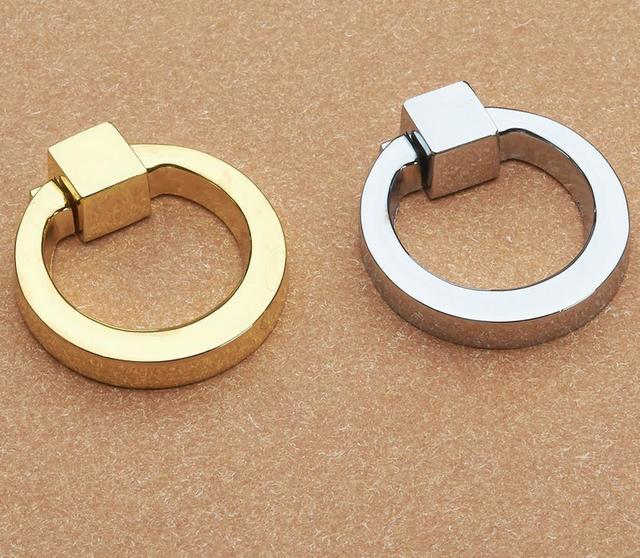 Commode tiroir de baisse anneaux placard boutons argent or - Bouton de placard cuisine ...