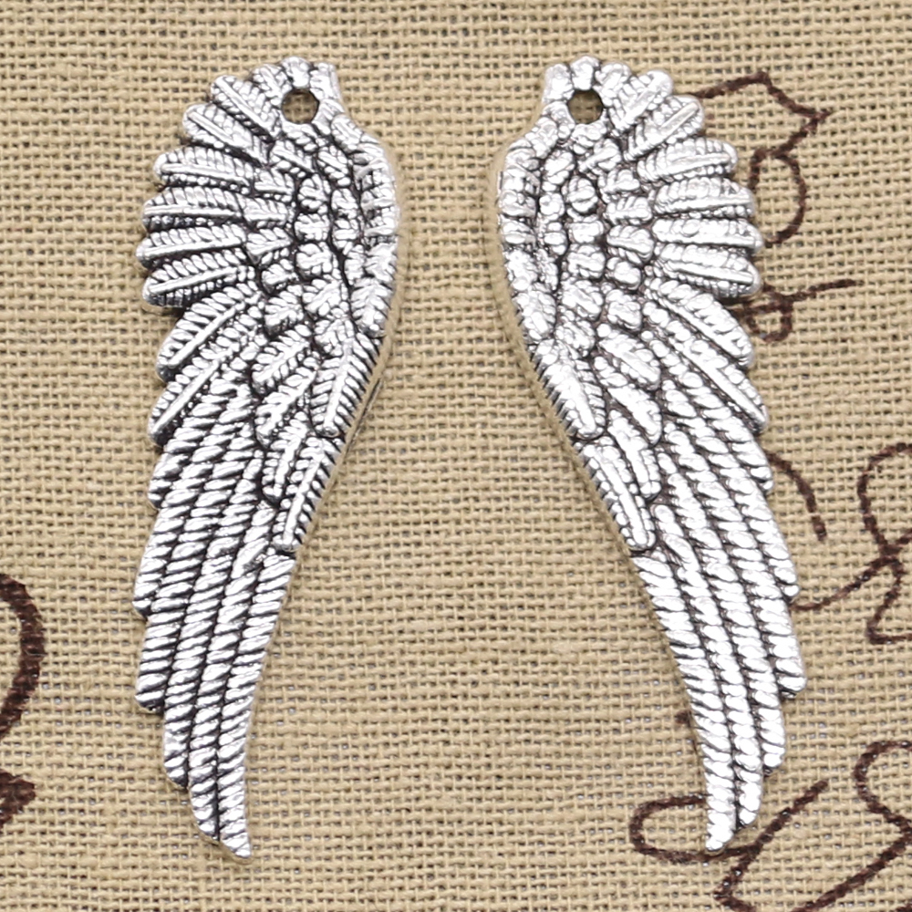 4pcs Charms angel wings 50x17mm Antique Making pendant fit,Vintage Tibetan Silver Bronze,DIY Handmade Jewelry image