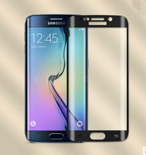 For Samsung Galaxy S7 edge full cowl Curve Tempered Glass Display screen Movie 3D 9H with free case and cable free delivery