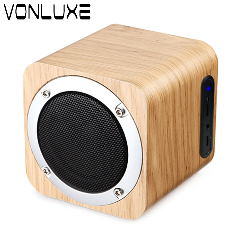 Wooden Mini Bluetooth Speaker Portable Wireless Speaker Sound System 3D Stereo Music Surround Speaker  with FM Mic For Xiaomi  360 degree dc 5v usb surround stereo bluetooth speaker portable rechargeable wireless led lights sound speaker for smartphone