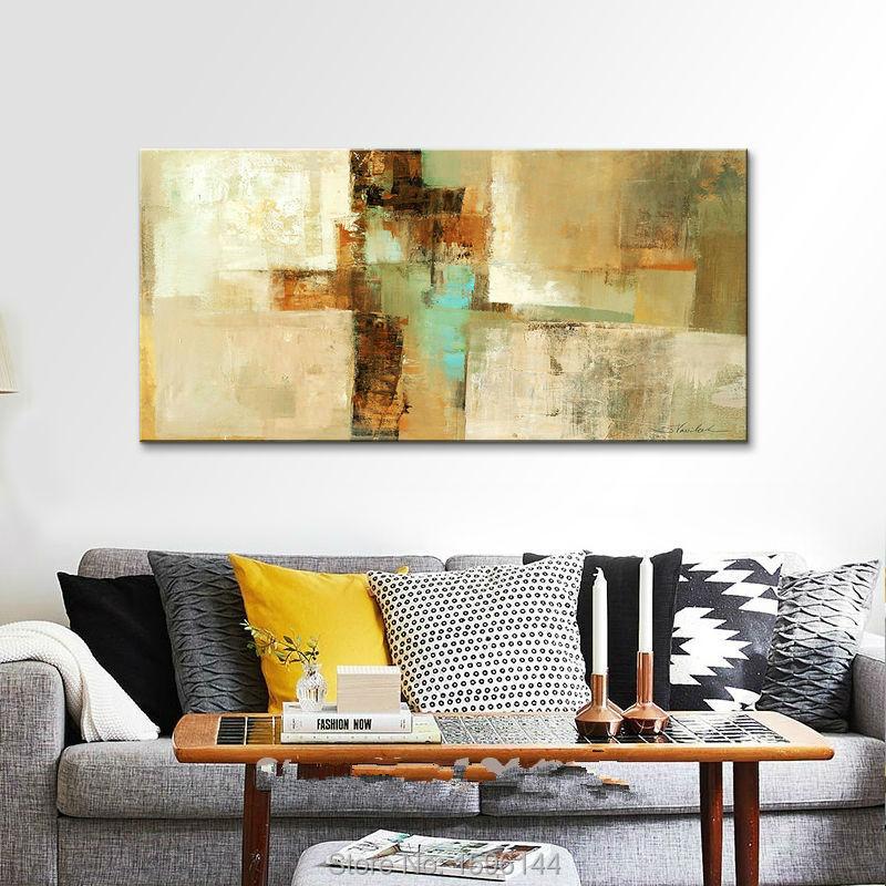 Қолмен боялған кенепте майлы - Үйдің декоры - фото 6