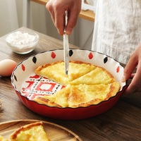 European 10 Inch Underglaze Color Round Pizza Tray Plate Silver Bake Pan Pizza Tools Kitchen Baking