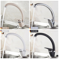LEDEME Kitchen Faucet Bend Pipe 360 Degree Rotation With Water Purification Features Spray Paint Chrome Single
