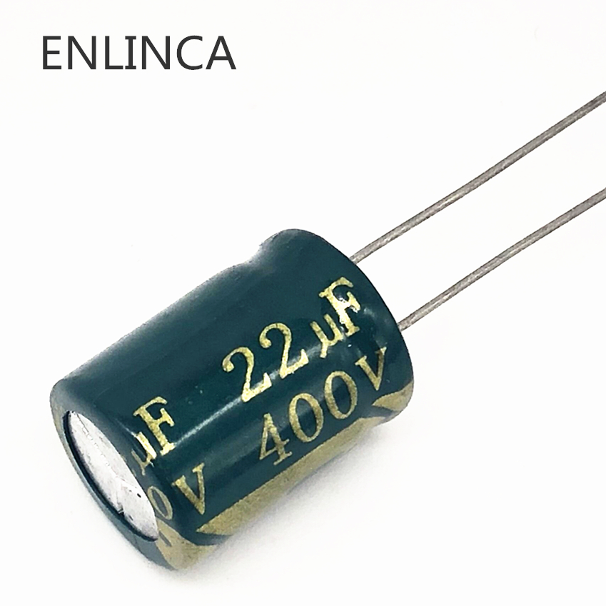 110pcs/lot 22UF High Frequency Low Impedance 400V 22UF Aluminum Electrolytic Capacitor Size 13*17 T22 20%