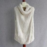 FXFURS вязаный мех кролика пальто куча водолазка двусторонний мех жилет свитер с без рукавов меховой жилет 2 Применение