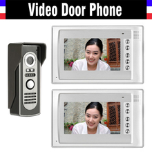7″ LCD Monitor video doorbell Intercom System IR Night Vision Alloy Door Camera Video Door Phone 2 Monitor 1 Camera