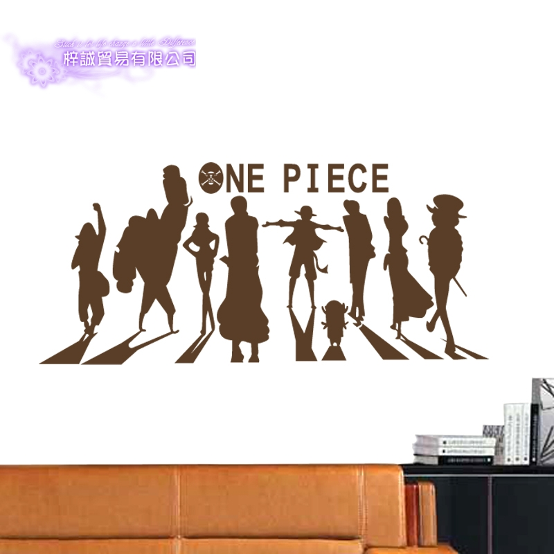 54fbd367f US $9.0 25% OFF|DCTAL ONE PIECE Silhouette Decal Japanese Cartoon Wall  Sticker Vinyl Decal Decor Home Decorative Decoration-in Wall Stickers from  Home ...
