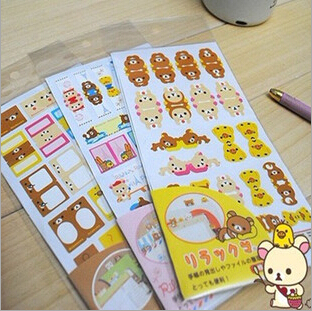 3packs/lot New cute Rilakkuma bookmark sticker / paper
