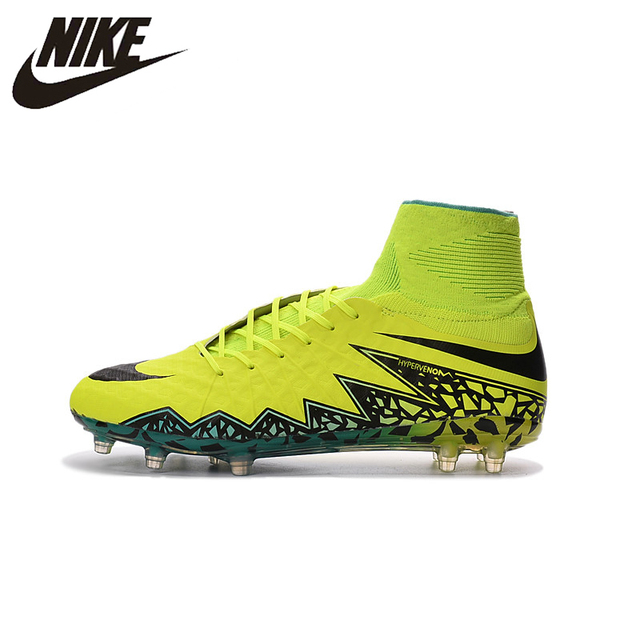 the latest 0d992 d6431 Nike Hypervenom Phantom II FG Outdoor Soccer Training Sneakers Sports Shoes  747214-845 Football Boots 39-45