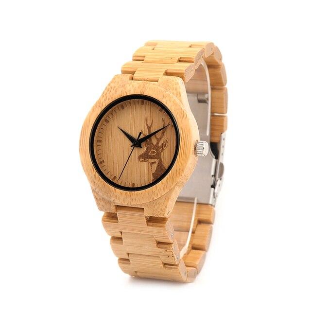 37mm Women Watches BOBO BIRD Luxury Brand Handmade Bamboo Watch With Wood Strap Wristwatch relogio feminino for Ladies Gifts