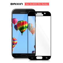 Tempered Glass For Samsung Galaxy A5 2017 A520F Full Coverage Screen Protector For Samsung  A3 2017 A7 2017 A320 A720 Glass Film