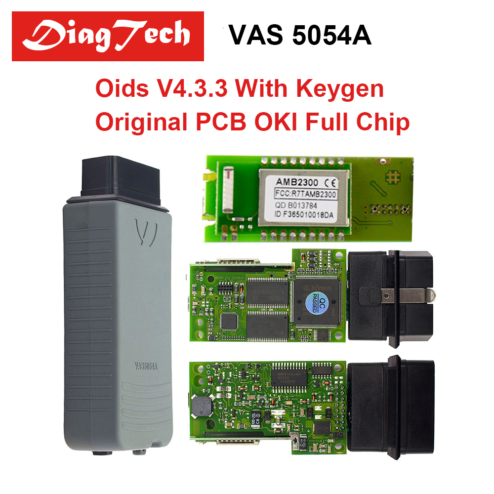 Newest VAS5054A With OKI Keygen Full Chip VAS5054 Bluetooth ODIS 4.3.3 & 4.23 With Free Keygen Support UDS Protocol VAS 5054A
