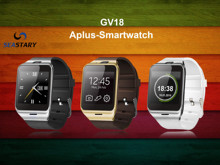 Aplus Gv18 Smart Watch Phone Bluetooth Health Mp3 Waterproof Pedometer Wearable Device Mobile GSM Android Smartwatch Gv18