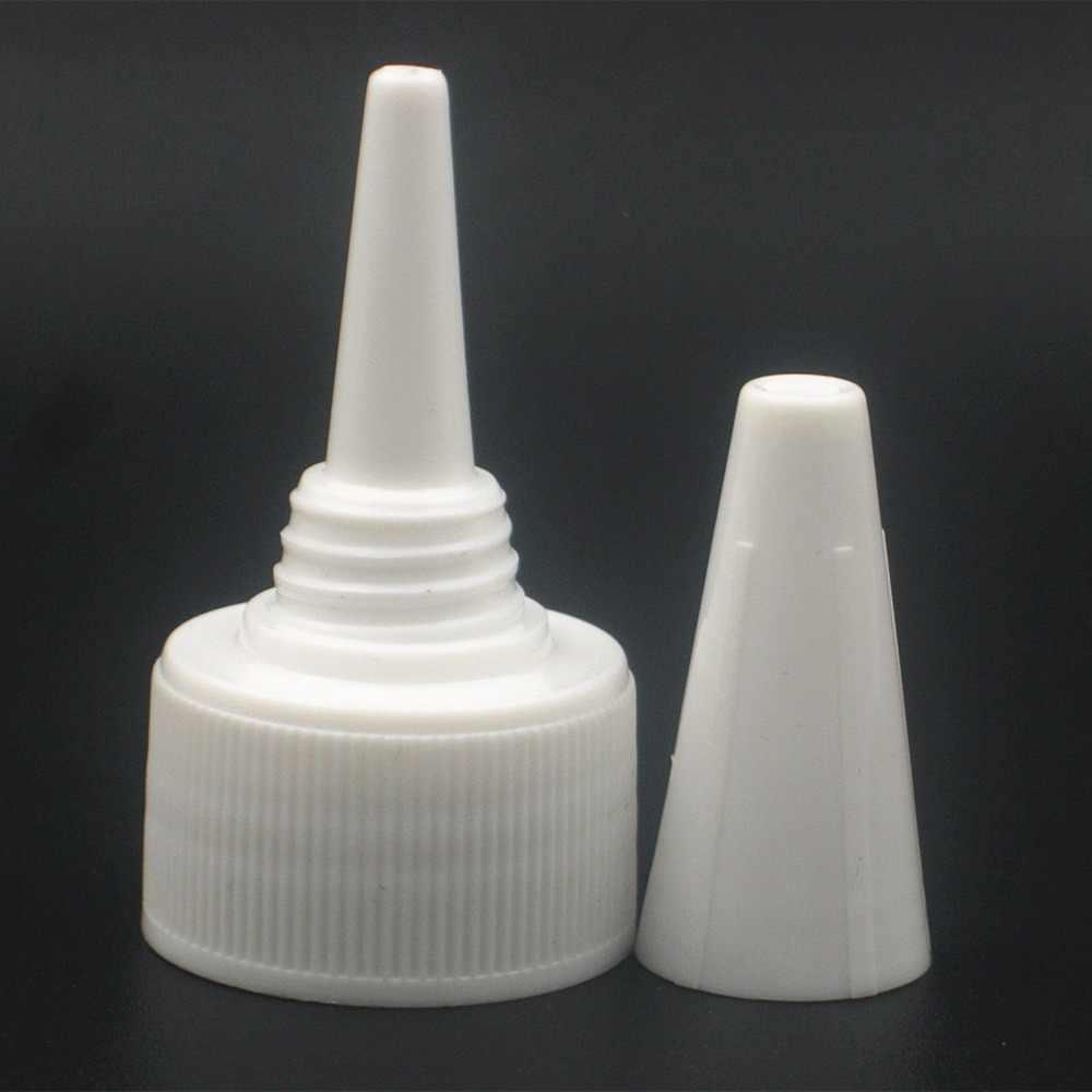 Botella de plástico redonda vacía de 120ml de cosmo, botella transparente para animal doméstico con tapas superiores de giro negras/blancas/transparentes, tapa superior de boca puntiaguda