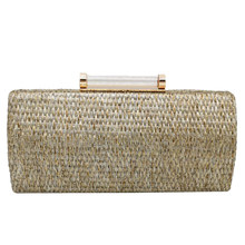 Clutch Female Straw Pillow Weave Clutch Bag Fashion with Chain Luxury Handbags Women Bags Main Femme(China)