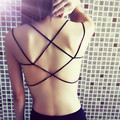 2016 Brand sexy white black crop top Summer backless short Camisole tops camis Modal Bra Top women tank top