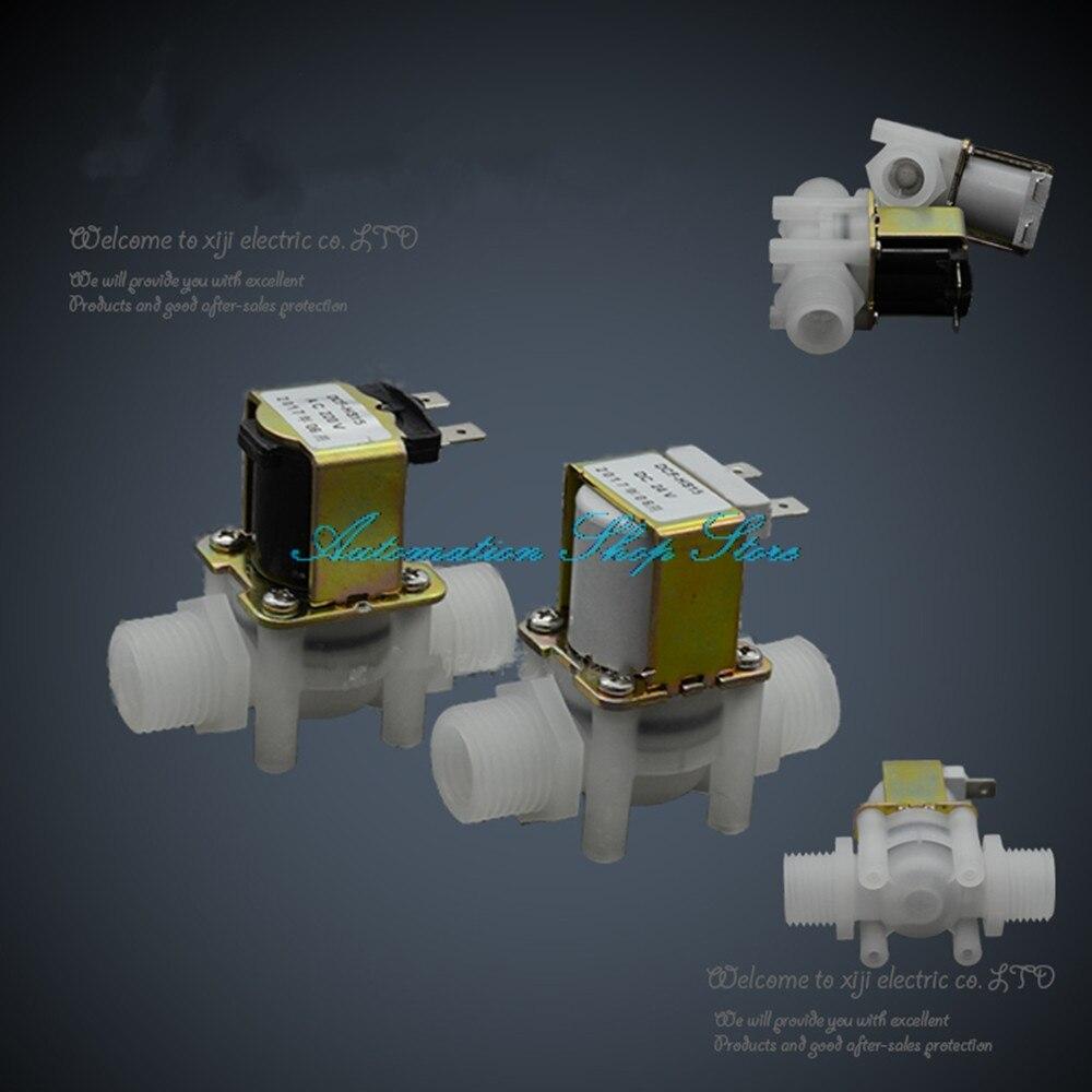 Elektronische Ventil Clever G1/2 kunststoff Magnetventil Wasser Ventil 12 V 24 V 220 V No/nc Extrem Effizient In Der WäRmeerhaltung