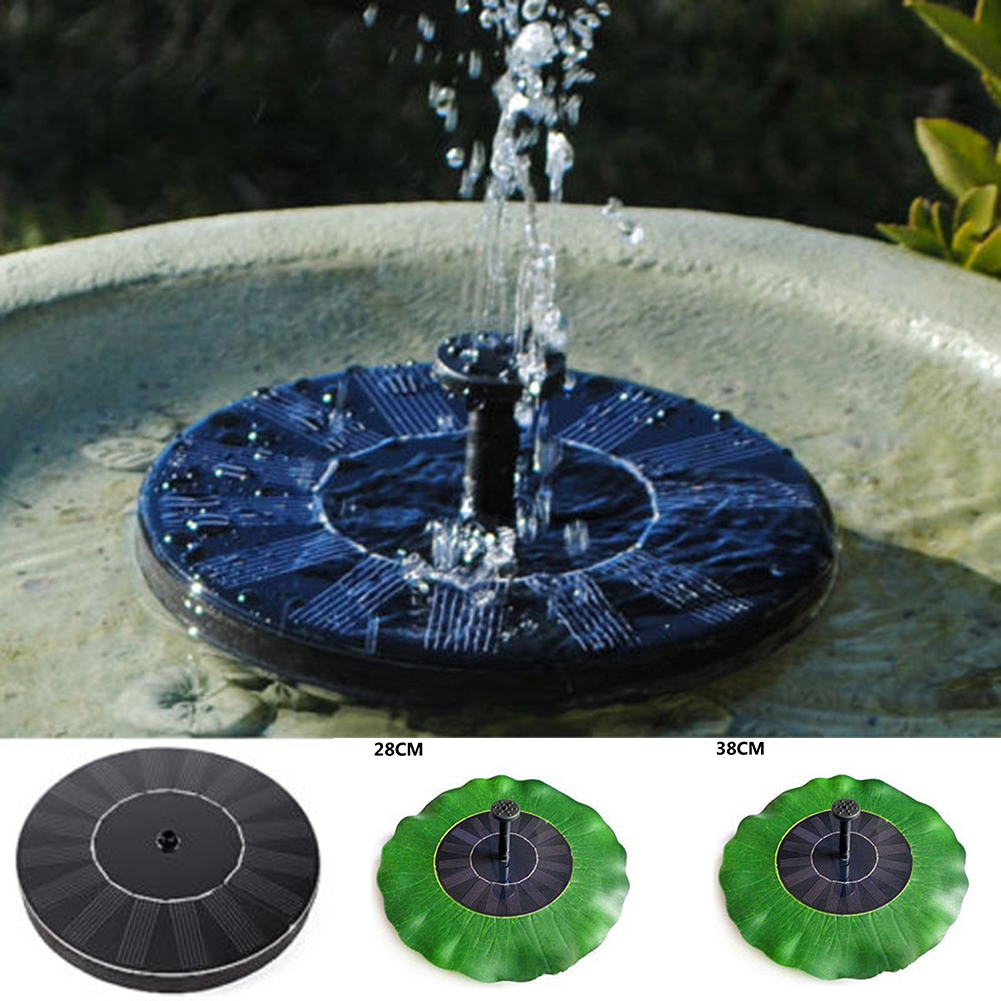solar powered pond fountain 7v floating water pump solar panel garden plants watering power fountain pool - Solar Powered Fountain
