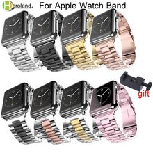 Stainless Steel Strap for Apple Watch Band 42/38/40/44mm Metal Links Bracelet Smart Series 1 2 3 4